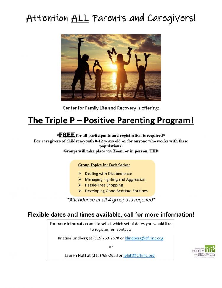CFLR Triple P Program!