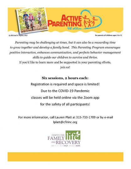 Interested in Virtual Active Parenting Classes?