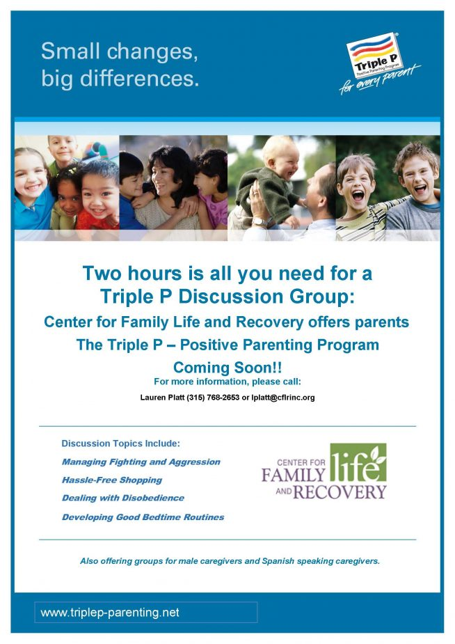 Coming Soon!  The Triple P – Positive Parenting Program Discussion Group!