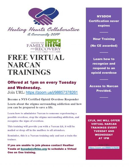 Free Virtual Narcan Training's Available
