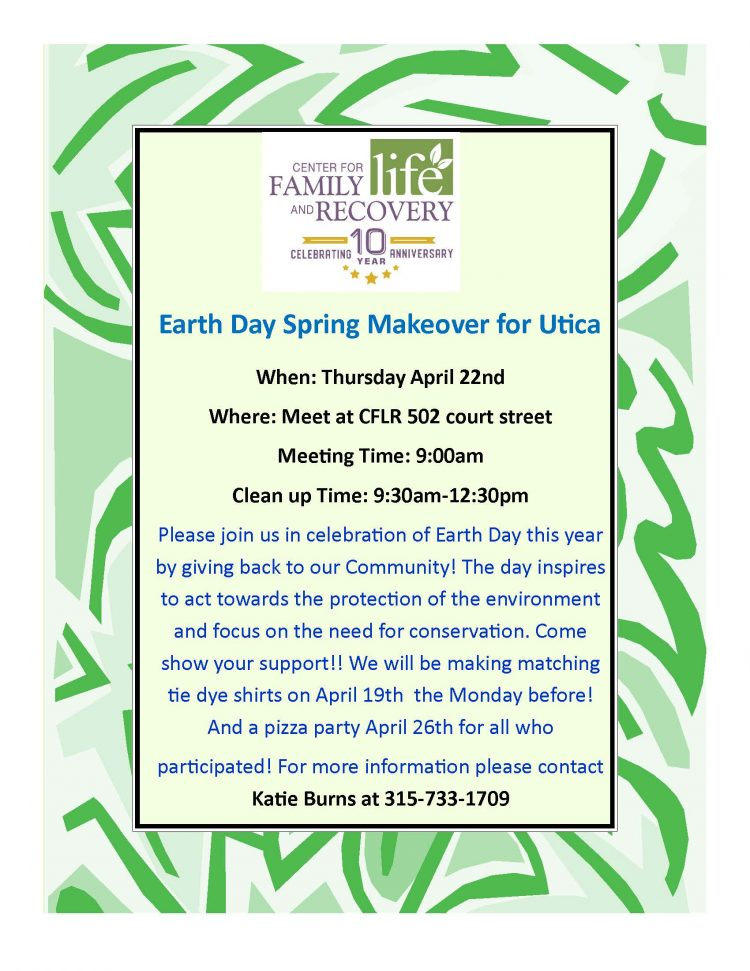 Earth Day Spring Makeover for Utica
