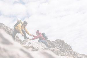 Deco image of climbers