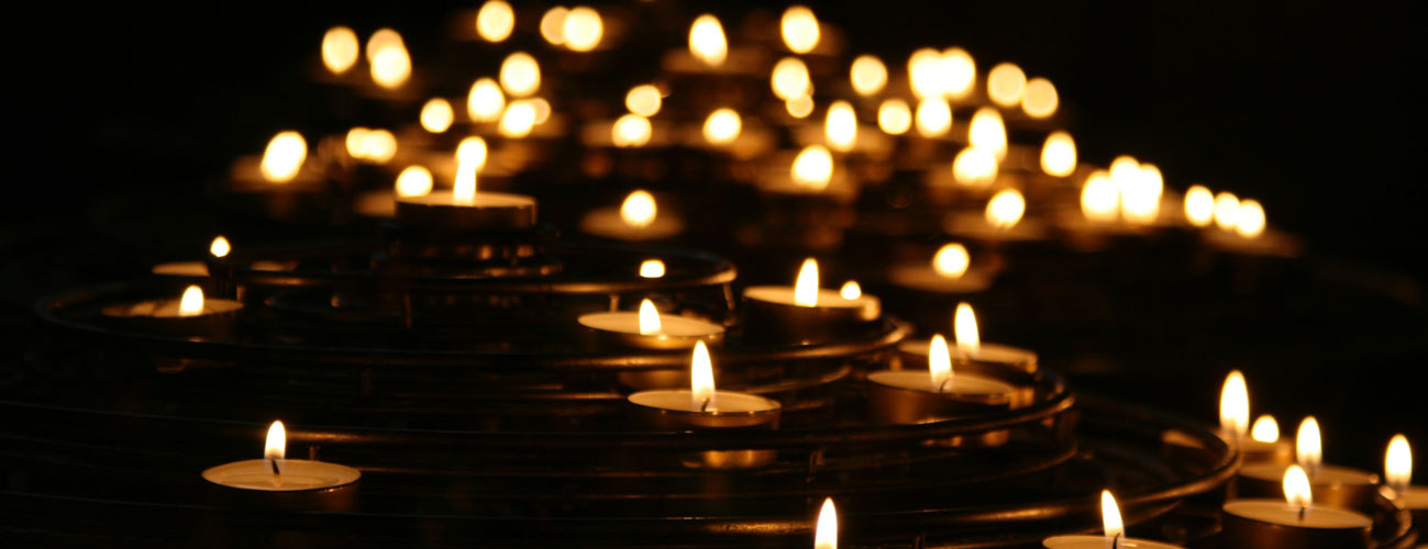 Candles in the night.